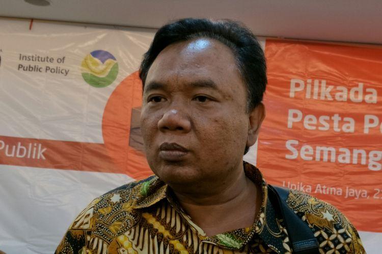 Deputi IV Bidang Komunikasi Politik dan Deseminasi Informasi KSP, Eko Sulistyo, Jakarta, Rabu (21/2/2018).