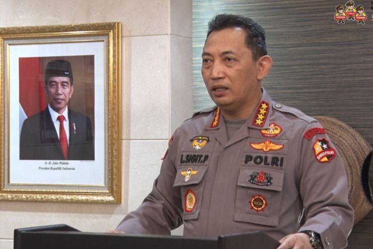 Kapolri Jenderal (Polisi) Listyo Sigit Prabowo menjadi pembicara utama dalam seremoni penyambutan mahasiwa baru President University (PresUniv) angkatan 2021 yang digelar secara daring pada 23 Agustus 2021.