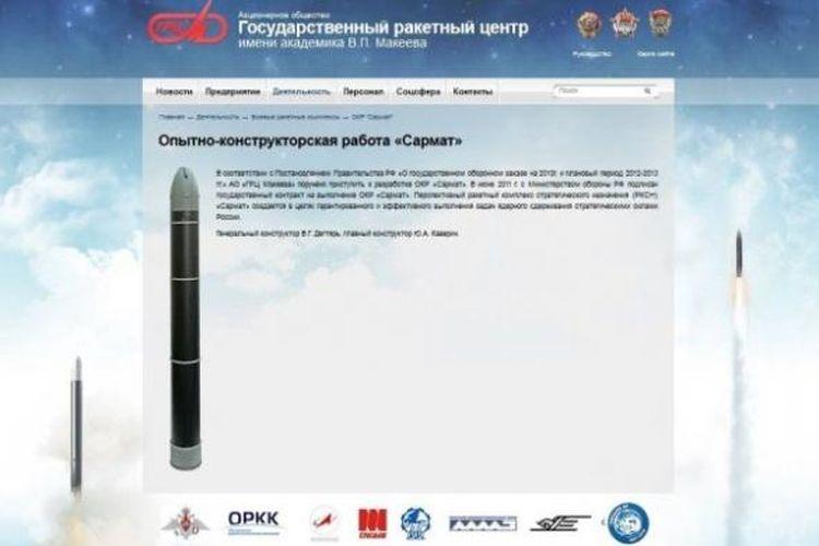 Inilah gambar misil Sarmat RS-28 yang tengah dikembangkan Rusia dan siap digunakan pada 2018.  Misil ini bisa mengangku hingga 16 hulu ledak nuklir dan bisa menghancurkan negara sebesar Perancis dalam sekali serang.