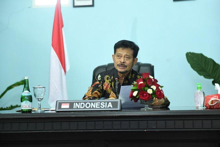 Menteri Pertanian Syahrul Yassin Limpo melakukan pertemuan virtual Tingkat Menteri ke-35 Konferensi Regional FAO untuk wilayah Asia Pasifik, Rabu (3/9/2020).