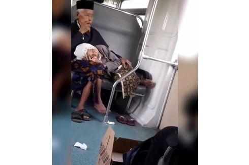 Viral Video Nenek Tertidur di Pangkuan Kakek Saat Naik Prameks