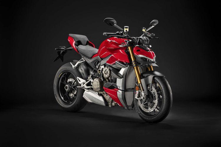 Ducati Streetfighter V4S dengan knalpot standar yang ditilang karena dianggap memakai knalpot bising
