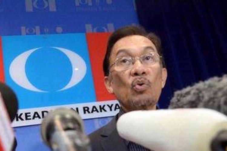 Pemimpin koalisi oposisi Malaysia, Anwar Ibrahim.