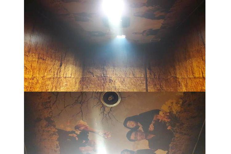 Desain smooking room di ruang tunggu terminal domestik Bandara Husein Sastranegara, Bandung, Jawa Barat.