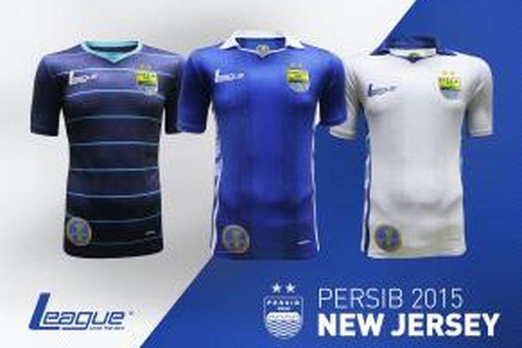 Tiga varian kaus resmi Persib Bandung untuk musim 2015 Indonesia Super League (ISL). Kaus-kaus ini dapat dibeli di Sportindo stores dan League shop-in-shop Matahari dan Metro di Jawa Barat dengan harga Rp. 499.000 untuk kaus otentik dan Rp 249.000 untuk kaus replika.