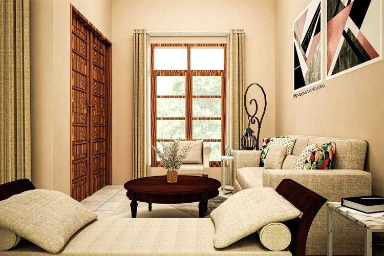 Warna tanah Modern Tropis House karya Vaastu Studio