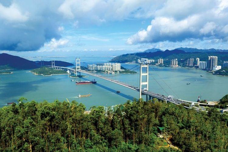 Pesona pemandangan alam Tsing Yi Nature Trails di Hong Kong.