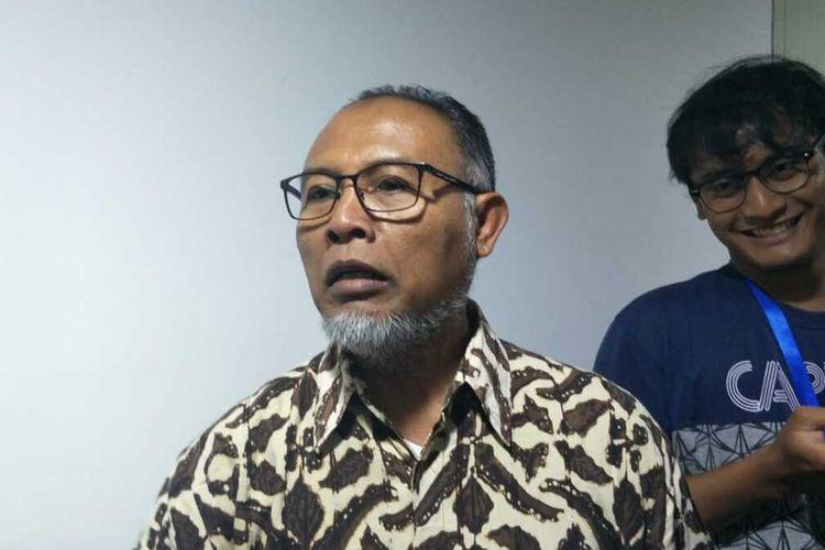 Ketua Bidang Hukum dan Pencegahan Korupsi Tim Gubernur untuk Percepatan Pembangunan (TGUPP) sekaligus eks Komisioner KPK Bambang Widjojanto (BW) di Balai Kota, Jakarta Pusat, Selasa (10/12/2019) malam.