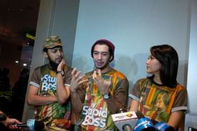 Alex Abbad, Reza Rahadian, dan Bunga Citra Lestari di XXI Kota Kasablanka, Jakarta Selatan, Sabtu (21/5/2016).