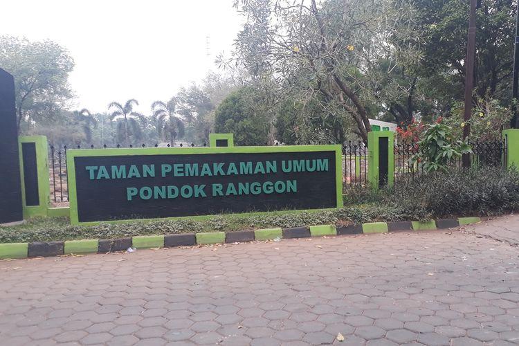 Tempat Pemakaman Umum (TPU) Pondok Ranggon, Cipayung, Jakarta Timur, Selasa (15/10/2019).