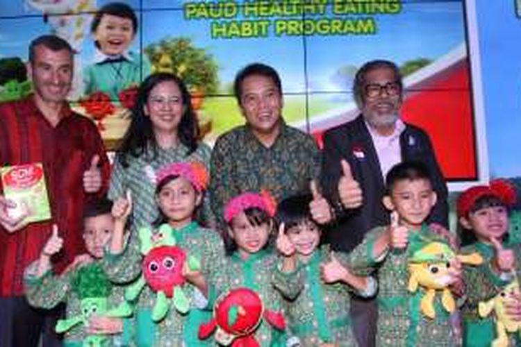 Peluncuran PAUD Healthy Eating Habit di Jakarta (2/9/16).