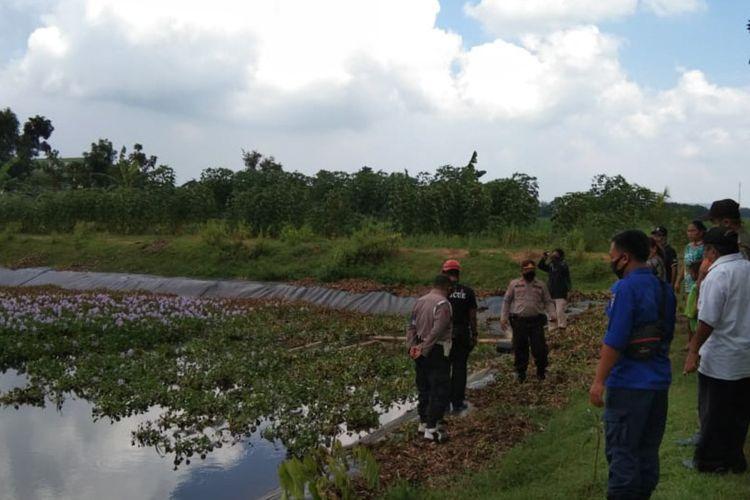 Embung tempat di mana bocah nahas di Tuban, Jawa Timur, ditemukan meninggal dunia usai tenggelam.