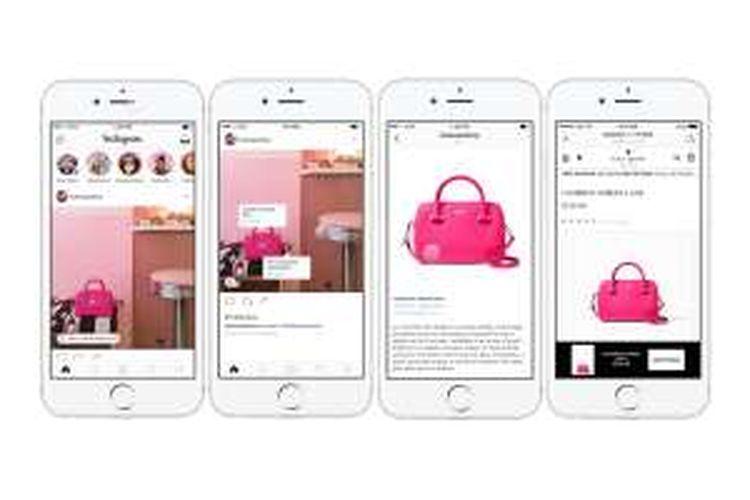 Instagram uji coba fitur shopping