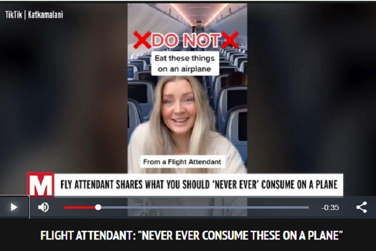 Pramugari bernama Kat Kamalani memberikan informasi kepada netizen di TikTok untuk tidak mengonsumsi air panas dari tangki air pesawat yang diklaimnya tidak pernah dibersihkan.