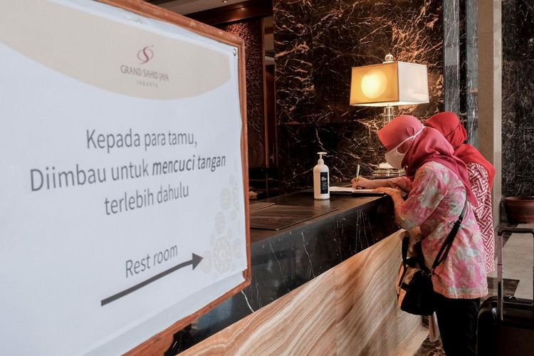 Penerapan new normal di hotel.
