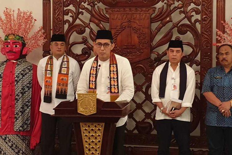 Konferensi pers terkait izin penyelenggaraan Djakarta Warehouse Project (DWP), di Balairung, Balai Kota, Jakarta Pusat, Jumat (13/12/2019)