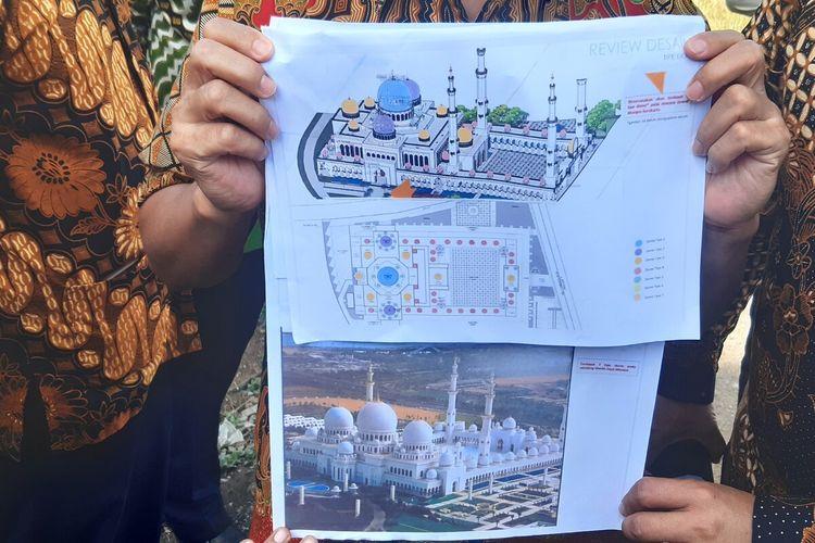 Desain masjid hadiah Pangeran Abu Dhabi untuk Presiden Jokowi, Kamis (9/7/2020).