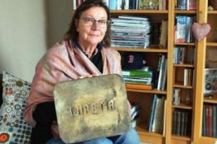 Louise Mamet menemukan blok Tjipetir di Dunes de Sainte Marguerite di Landeda, Perancis.