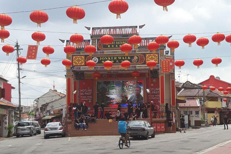 Salah satu sudut Jonker Street Melaka, Malaysia.
