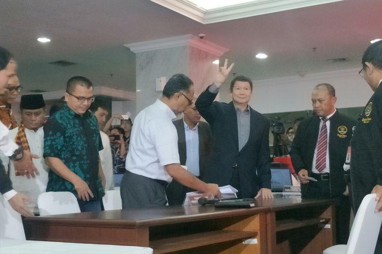 Hashim Djojohadikusumo mendaftarkan gugatan sengketa Pilpres 2019