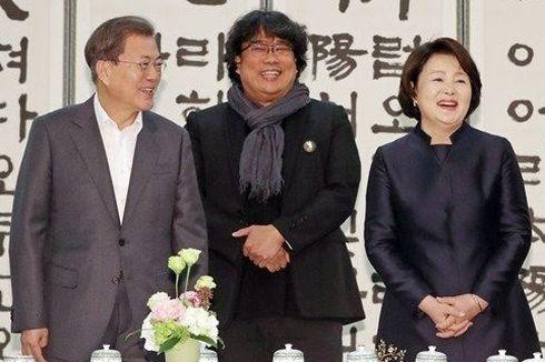 Ketika Presiden Moon Jae-in Menjamu Sutradara dan Pemain Film Parasite