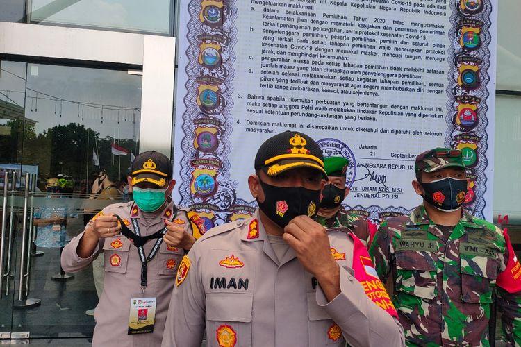 Kapolres Tangerang Selatan AKBP Iman Setiawan saat diwawancarai di kawasan Serpong, Tangerang Selatan, Kamis (24/9/2020)