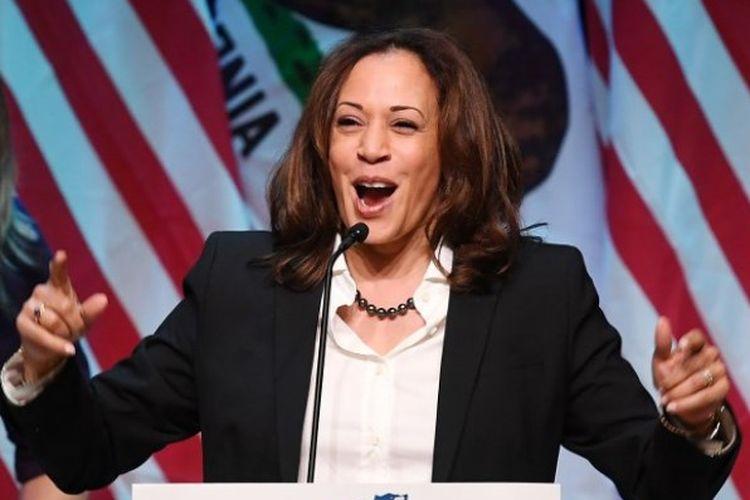 Senator Partai Demokrat asal California, Kamala Harris. (AFP/MARK RALSTON)
