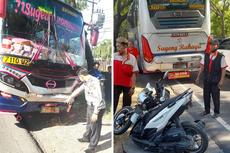 Viral, Video Bus Sugeng Rahayu Tabrak Belakang Sepeda Motor dan Bus Lain, Ini Kronologinya