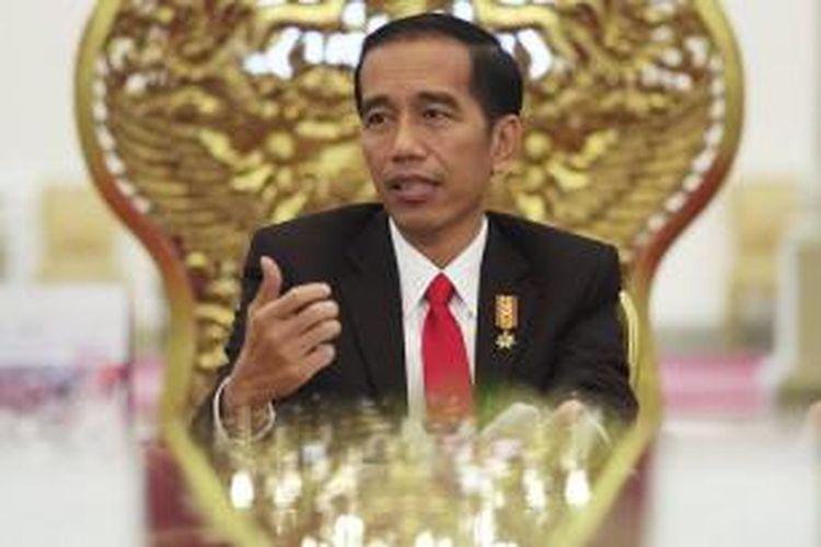 Presiden Joko Widodo ketika diwawancarau harian The Wall Street Journal
