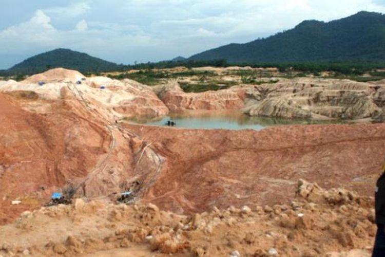 Ilustrasi: Aktivitas tambang timah di Kepulauan Bangka Belitung.