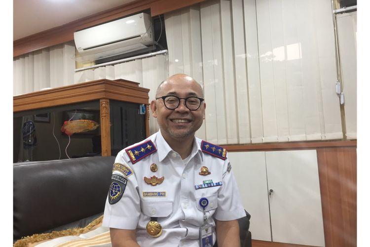 Kepala BPTJ, Bambang Prihartono, di Kantor BPTJ, MT Haryono, Pancoran, Jakarta Selatan, Jumat (29/11/2019).