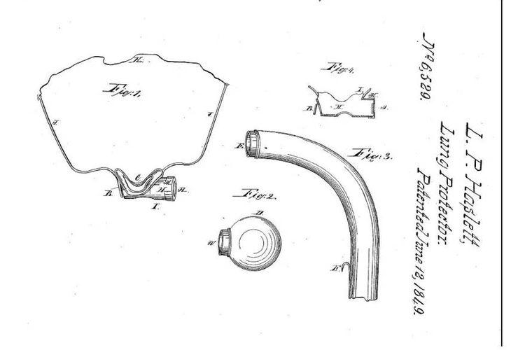 Masker gas pertama buatan Lewis Haslett