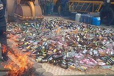 Ratusan Botol Minuman Keras Disita