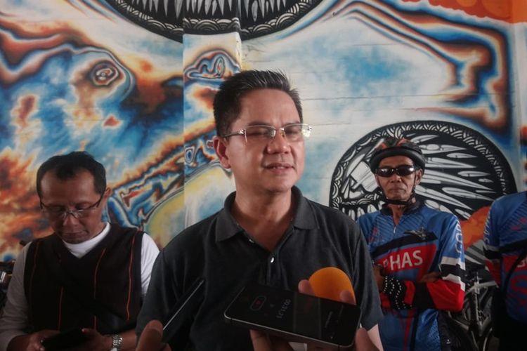 Kepala Dinas Perhubungan DKI Jakarta Syafrin Liputo, seusai uji coba jalur sepeda fase 3, di Terowongan Kendal, Sudirman, Jakarta Pusat, Sabtu (2/10/2019).