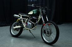 Honda Tiger Scrambler Tracker Sederhana ala Bogel Garage