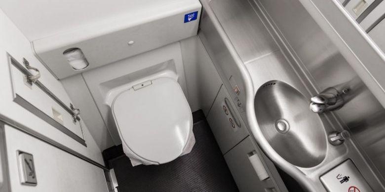 Ilustrasi toilet pesawat.