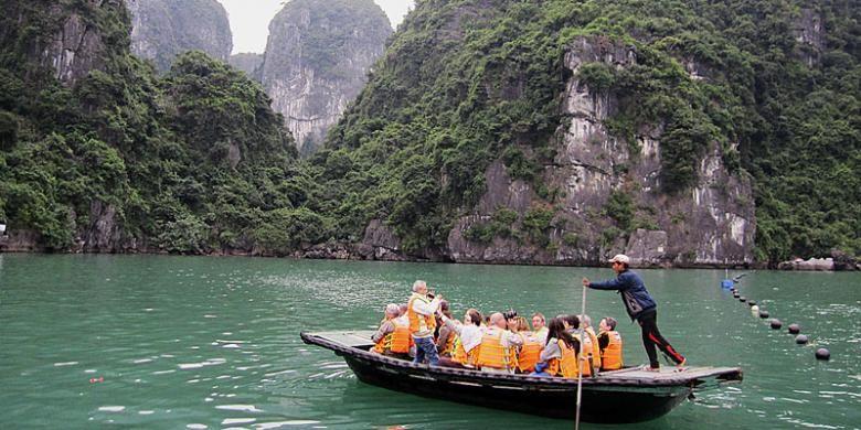 Trang An, Ninh Binh, Vietnam utara.