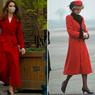 Pakai Coat Merah, Kate Middleton Kembali