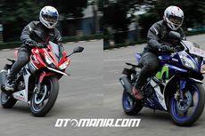 Honda CBR150R Vs Yamaha R15, Sama-sama Galak di Bawah