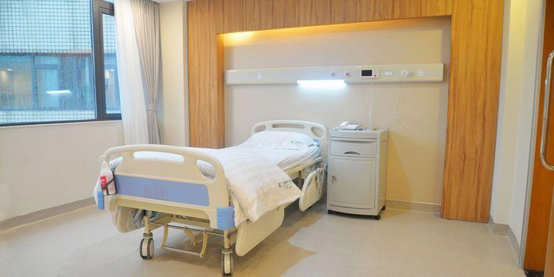 Fasilitas kamar rawat inap pasien kanker St. Stamford Modern Cancer Hospital di Guangzhou.