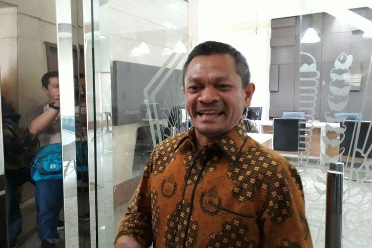 Ketua Departemen Hukum dan HAM DPP PKS Zainudin Paru di Bareskrim Polri, Gambir, Jakarta Pusat. Senin (7/8/2017)