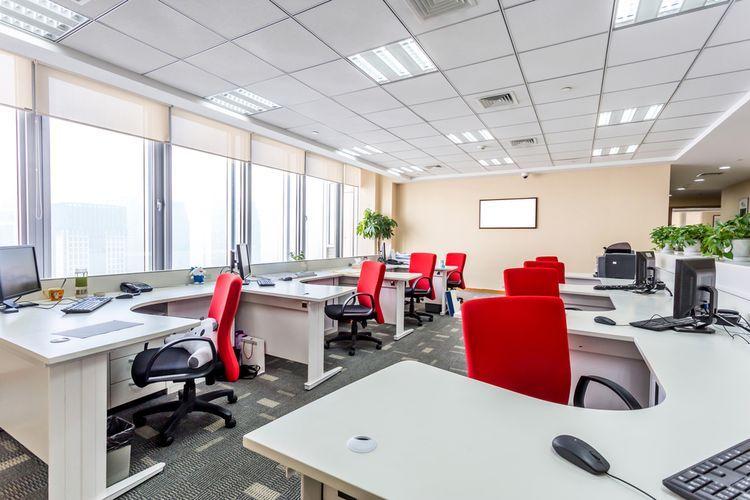 Ilustrasi ruang kantor.