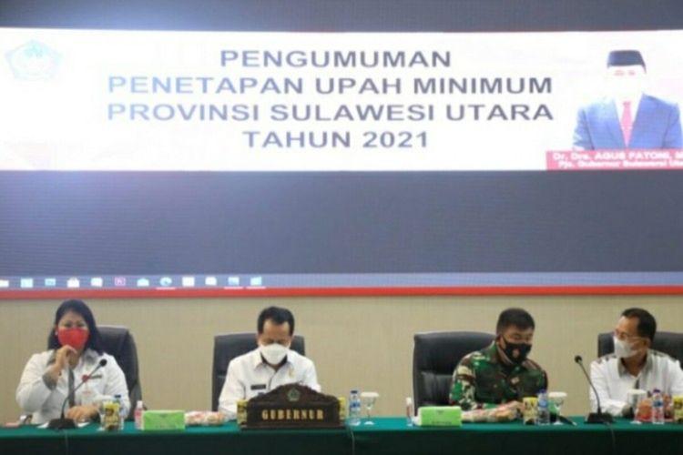 Pjs Gubernur Agus Fatoni menetapkan UMP Sulut 2021