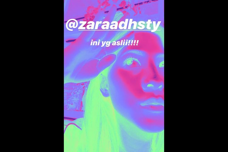 Zara mengganti akun media sosialnya setelah lulus dari JKT48.