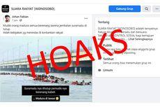 [HOAKS] Pemudik Berenang di Laut karena Jembatan Suramadu Ditutup