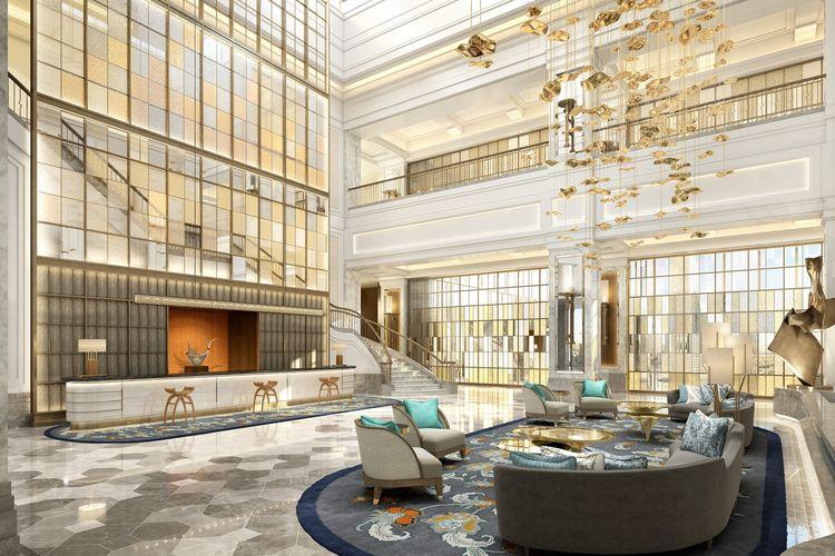 Lobby Waldorf Astoria Jakarta, Thamrin Nine, Jakarta Pusat.(Putragaya Wahana)