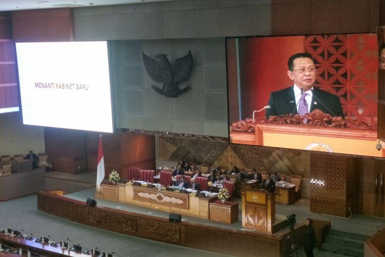 Rapat Paripurna di Kompleks Parlemen, Senayan, Jakarta, Kamis (25/7/2019).