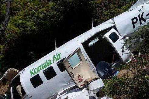 Pesawat Komala Air Tabrak Bukit di Yahukimo