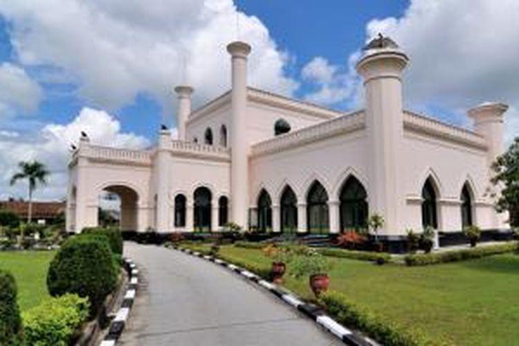 Istana Siak Sri Indrapura di Pekanbaru, Riau.