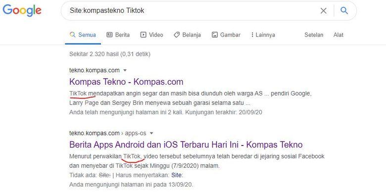 Cara menggunakan parameter Site: untuk pencarian Google